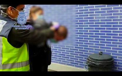 La Policía detiene a Oleksandr Z. en Barcelona, el pasado 22 de abril.