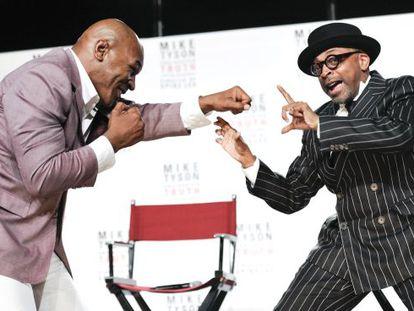 Mike Tyson y Spike Lee bromean en la presentación de 'La verdad indiscutible'.