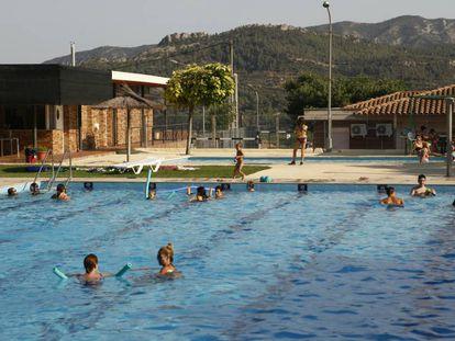 Una imagen de la piscina de Vinebre.
