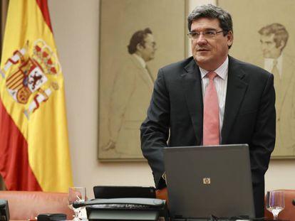 José Luis Escrivá, presidente de la Autoridad independiente de Responsabilidad Fiscal (AIREF) en el Congreso de los Diputados.