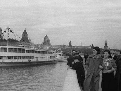 Vista de Moscú en los años treinta.