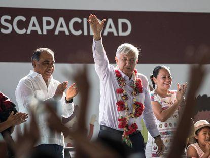 López Obrador este viernes en Guerrero.