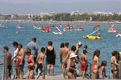 Imagen de la Playa de Levante de Salou