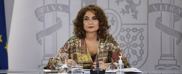 La ministra portavoz y de Hacienda, María Jesús Montero, el martes tras el Consejo de Ministros.