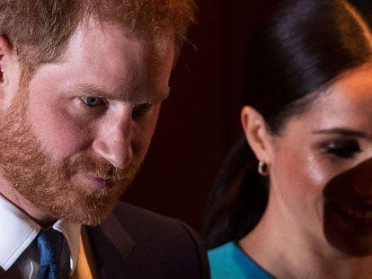 Enrique de Inglaterra y Meghan Markle el 5 de marzo de 2020 en uno de sus últimos actos públicos en el Reino Unido.