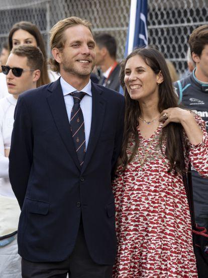 Andrea Casiraghi y Tatiana Santo Domingo en Mónaco en 2019.