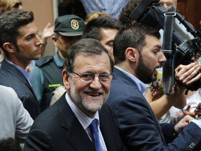 Mariano Rajoy, este miércoles, en Alfafar.