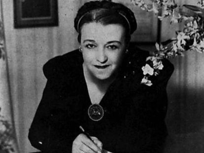 Foto de la compositora María Grever tomada de Paramount Pictures o 20th-Century Fox Studios para quienes trabajó desde 1920 hasta su muerte en 1951.