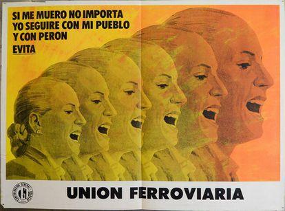 Póster de Eva María Duarte, 'Evita', de 1973 o 1974.