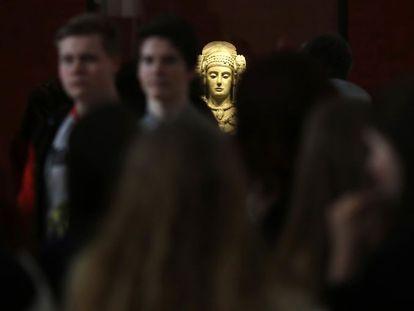 La dama de Elche, quizás la pieza más conocida del Museo Arqueológico Nacional.