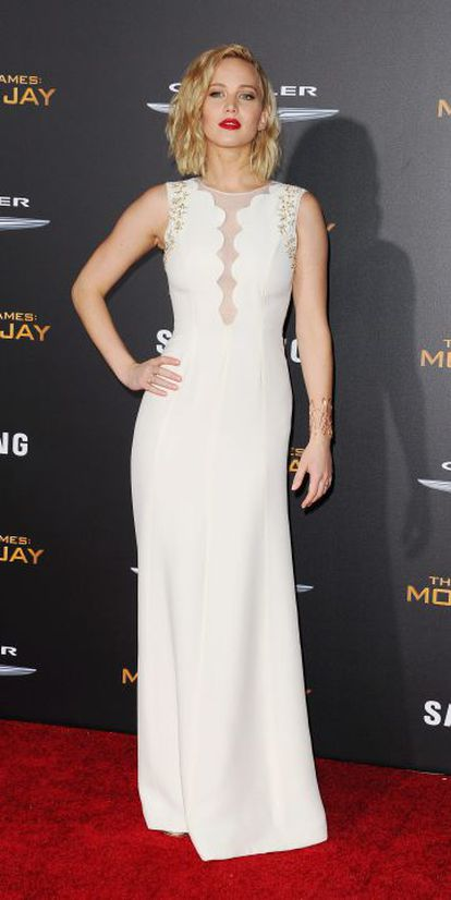 Jennifer Lawrence durante la promoción de su última película.