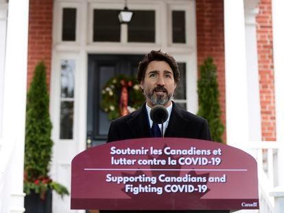 Justin Trudeau, primer ministro de Canadá, durante una conferencia de prensa en Ottawa, este martes.