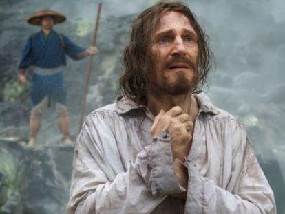 Liam Neeson en una imagen promocional de 'Silence'.
