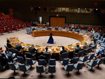 Los quince miembros del Consejo de Seguridad de la ONU, reunidos este lunes en Nueva York bajo la presidencia de António Guterres.