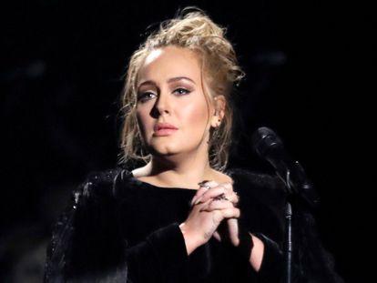 Adele, durante los premios Grammy de 2017, celebrados en Los Ángeles (California, EE UU).