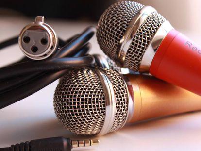 El micrófono para la aplicación Red Karaoke.