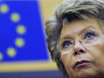 La vicepresidenta de la CE y responsable de Justicia, Viviane Reding. / EFE