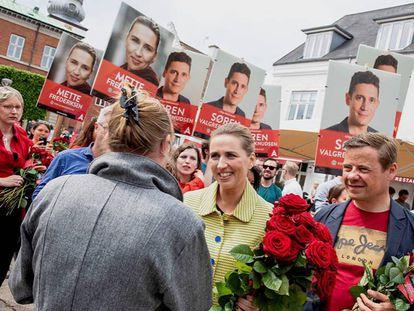 La líder socialdemócrata, Mette Frederiksen,el 5 de junio de 2019 en Aalborg. En vídeo, sus declaraciones tras el resultado de las elecciones.