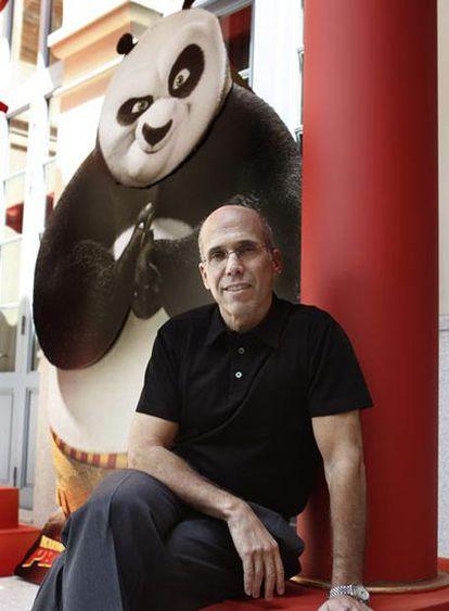 Jeffrey Katzenberg, ayer en Madrid promocionando <i>Kung Fu Panda. </i>