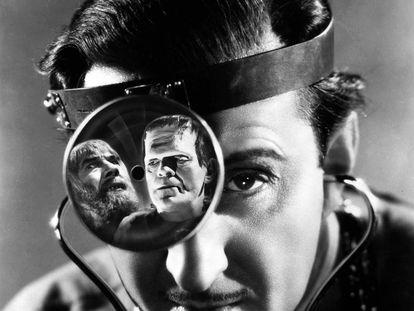 Basil Rathbone en 'La sombra de Frankenstein', de Rowland V. Lee.