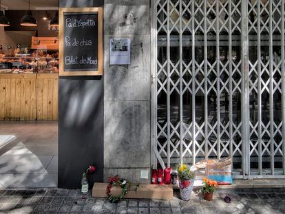 Lugar donde fue asesinado Jean Pierre H., la última víctima de un asesino en serie de personas sin hogar en Barcelona.