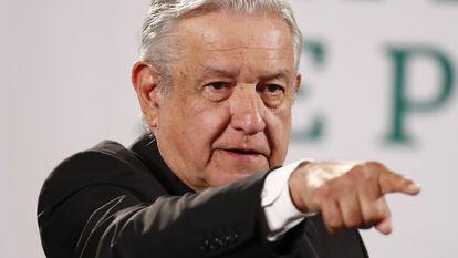 El presidente Andrés Manuel López Obrador, en el Palacio Nacional.