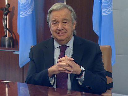 Declaraciones de António Guterres, secretario general de la ONU, en su entrevista con EL PAÍS desde Nueva York.