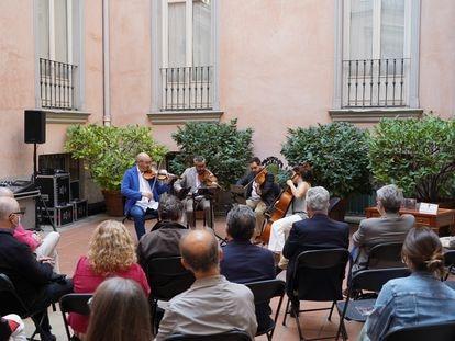 Presentación del Cuarteto Quiroga en el Museo Cerralbo.
