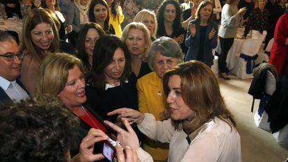 Susana Díaz, el pasado sábado en Almería.