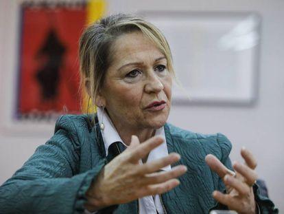 La eurodiputada socialista, Inmaculada Rodríguez-Piñero, durante la entrevista.