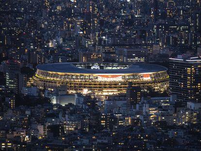 Panorámica exterior del  Estadio Nacional de Tokio, hace una semana.