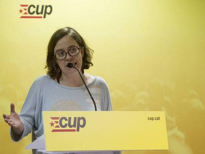 La diputada de la CUP, Eulàlia Reguant.