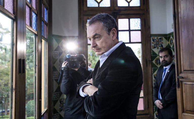 El expresidente del Gobierno, José Luis Rodríguez Zapatero, en Rocafort (Valencia).