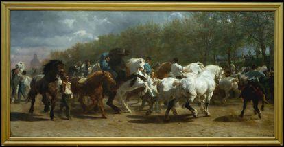 'La feria de caballos' (1852-55) de Rosa Bonheur es uno de los 35 cuadros en que se centra 'Emocionarte'. Actualmente es exhibida en el Museo Metropolitano de Arte de Nueva York.