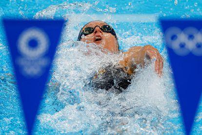 Mireia Belmonte compite en la prueba femenina de 400m.