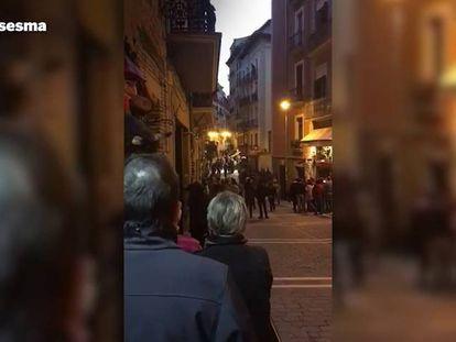 Condena unánime por los altercados en el Casco Viejo de Pamplona