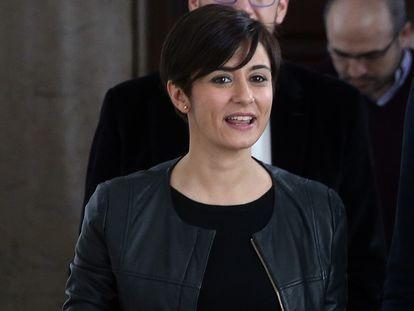 La nueva ministra de Política Territorial y portavoz del Ejecutivo, Isabel Rodríguez, en el Congreso de los Diputados.