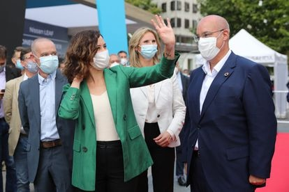 La presidenta madrileña, Isabel Díaz Ayuso, esta semana en un acto oficial.