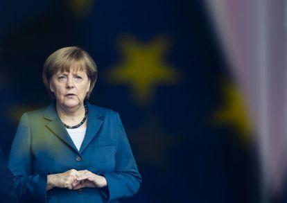 Merkel este lunes en la Cancillería, en Berlín.