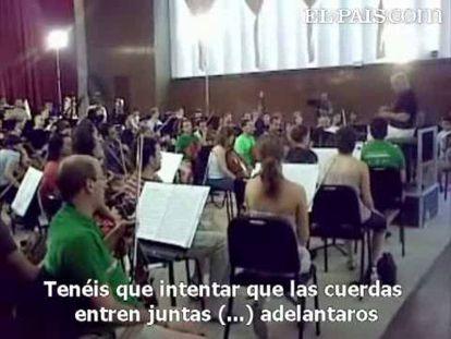 Barenboim ensaya con su orquesta de árabes, israelíes y españoles