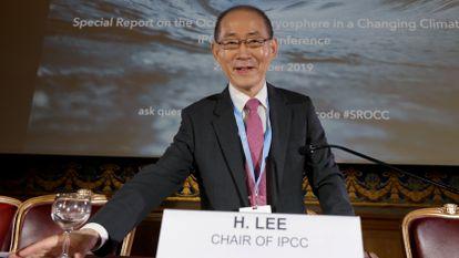 El presidente del IPCC, Hoesung Lee, en septiembre de 2019 en Mónaco.