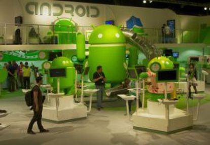 El estand de Android.
