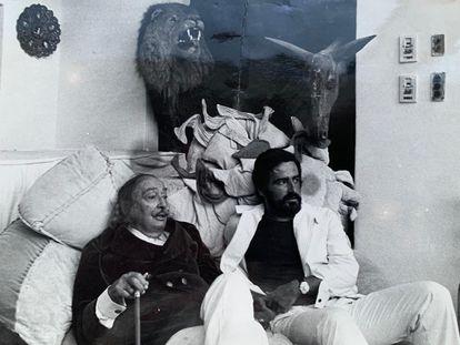 Rafel Nadal con Salvador Dalí en Portlligat.