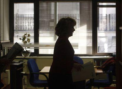Esperanza Aguirre, en la sede del PP en Génova tras presidir la reunión del Comité Ejecutivo Regional del partido.