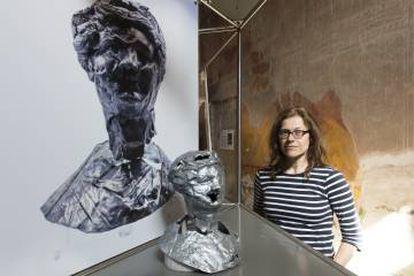 Catrin Huber en su exposición de Herculano