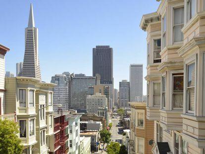 Vista de la ciudad de San Francisco, en California, desde el barrio de North Beach.