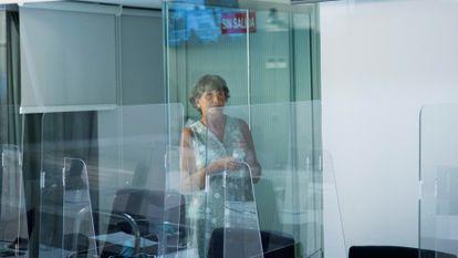 La exjefa de ETA María Soledad Iparragirre, alias 'Anboto', en la vista del primero de los 12 juicios que tenía pendientes en julio de 2020.