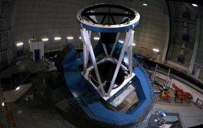 El telescopio de 3,5 metros del Observatorio de Calar Alto, desde el que opera el instrumento Carmenes.