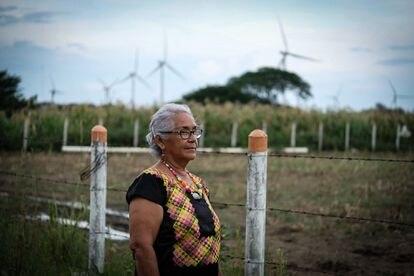 La señora Guadalupe Ramírez, de 70 años, lleva una década defendiendo su territorio de las empresas eólicas.