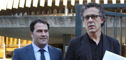 Los diputados de Amaiur Jon Iñarritu, a la izquierda, y Mikel Errekondo.